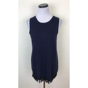 NWT J Crew Factory Sleeveless Fringe Sweater